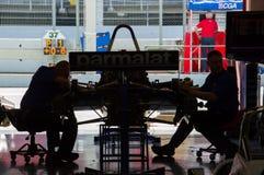 FIA управляет историческим чемпионатом Формула-1 в цепи de Барселоне, Каталонии, Испании Стоковое Изображение