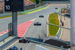 FIA управляет историческим чемпионатом Формула-1 в цепи de Барселоне, Каталонии, Испании Стоковое Фото