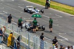 FIA управляет историческим чемпионатом Формула-1 в цепи de Барселоне, Каталонии, Испании Стоковые Изображения RF