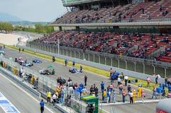 FIA управляет историческим чемпионатом Формула-1 в цепи de Барселоне, Каталонии, Испании Стоковые Изображения