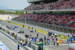FIA управляет историческим чемпионатом Формула-1 в цепи de Барселоне, Каталонии, Испании Стоковое фото RF
