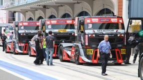 FIA-europäischer LKW-laufende Meisterschaft 2012 Stockfotos