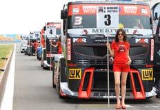 FIA-europäischer LKW-laufende Meisterschaft 2012 Stockbilder