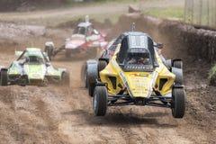 FIA European Autocross Championship y HACHA italiana del campeonato Imagenes de archivo