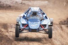 FIA European Autocross Championship y HACHA italiana del campeonato Imagen de archivo