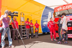 2015 FIA European Truck Racing Championship Royalty-vrije Stock Foto's