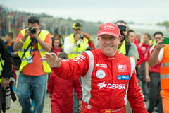 2015 FIA European Truck Racing Championship Antonio Albacete Royalty-vrije Stock Afbeelding