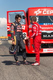2015 FIA European Truck Racing Championship Carlos Sainz en Royalty-vrije Stock Fotografie