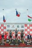 2015 FIA European Truck Racing Championship-podium Stock Foto's