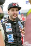 2015 FIA European Truck Racing Championship Winnaargesprek Stock Foto