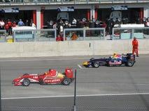 FIA Formula 2 Race Imola 2009. Formula 2. Kazim VASILIAUSKAS (Darsena Management team) and Mirko BORTOLOTTI (Red Bull team) on the starting grid Royalty Free Stock Photo
