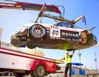FIA GT ściga się wokoło Parlamentu Domu Obraz Royalty Free