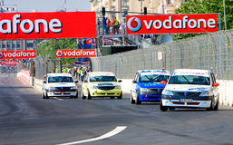 FIA GT race around the Parliament House Stock Image