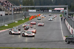 FIA GT race start Arkivbilder