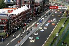 FIA SPORTSCAR(Spa1000km race). FIA SPORTSCAR CHAMPIONSHIP 2003(Spa1000km race): in BELGIUM, Circuit Spa-Francorchamps, August 31. 2003. START Royalty Free Stock Photo