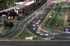 FIA SPORTSCAR(Spa1000km race). FIA SPORTSCAR CHAMPIONSHIP 2003(Spa1000km race): in BELGIUM, Circuit Spa-Francorchamps, August 31. 2003. START Royalty Free Stock Image