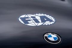 FIA und BMW-Symbole lizenzfreie stockbilder