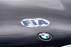 FIA und BMW-Symbole stockbild