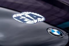 FIA und BMW-Symbole lizenzfreie stockfotos