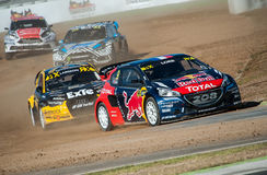 FIA WORLD RALLYCROSS OF BARCELONA 2016 Royalty Free Stock Images