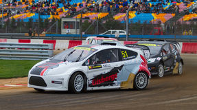 FIA World Rallycross Championship Royaltyfri Fotografi