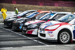 FIA WORLD RALLYCROSS CHAMPIONSHIP. Royalty Free Stock Photo