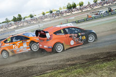 FIA WORLD RALLYCROSS CHAMPIONSHIP. CRASH Royalty Free Stock Photography