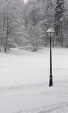 Fiaba di inverno un paesaggio Immagine Stock