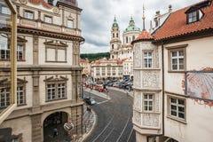 Fiaba Praga Vista della finestra fotografia stock libera da diritti