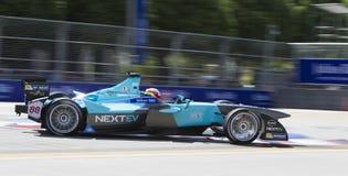 FIA惯例E raceday布城,马来西亚 免版税库存照片