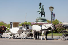 Fiaker, horsedrawn of Vienna Royalty Free Stock Photo