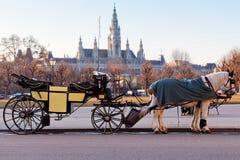 Fiaker Wagen in Wien, Österreich Stockfoto