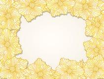 Fialka frame contour yellow Stock Photo
