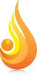 Fiamma arancio Immagine Stock