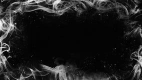 Fiamma bianca della pagina Effetto di struttura della foschia del fumo del confine per il film, il testo o lo spazio illustrazione di stock