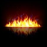 Fiamma d'ardore del fuoco Fotografie Stock