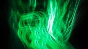 Fiamma d'ardore verde astratta Fotografia Stock