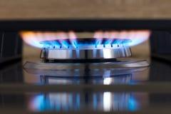Fiamma del bruciatore a gas Immagini Stock Libere da Diritti