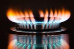 Fiamma del bruciatore a gas Immagini Stock
