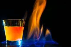 Fiamma del cocktail Fotografia Stock