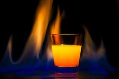 Fiamma del cocktail Immagine Stock