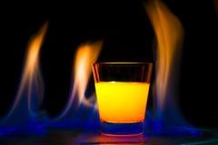 Fiamma del cocktail Immagini Stock Libere da Diritti