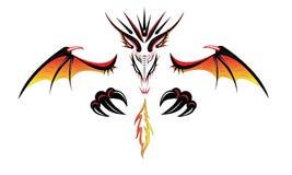 Fiamma del demone del drago illustrazione di stock