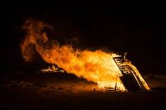 Fiamma del fuoco della fiammata Immagine Stock Libera da Diritti
