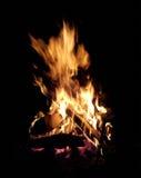 Fiamma del fuoco di accampamento Fotografie Stock
