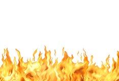 Fiamma del fuoco su bianco Fotografia Stock