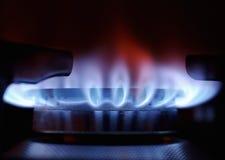 Fiamma del gas Immagine Stock