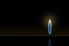 Fiamma del gas Fotografia Stock