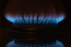 Fiamma del gas Fotografie Stock Libere da Diritti