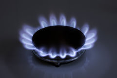 Fiamma del gas Immagini Stock Libere da Diritti